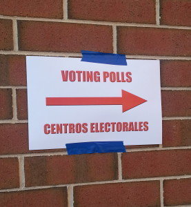 Voting Polls Sign